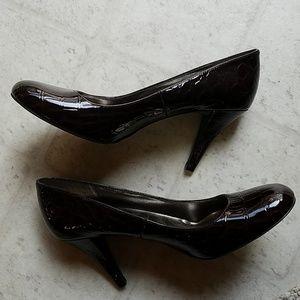 New Faux Croc Heels